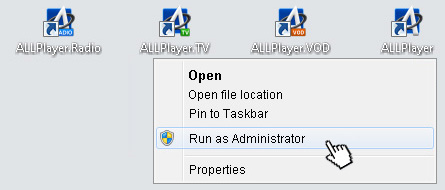 ALLPlayer - run as administrator_video_player_allplayer.org